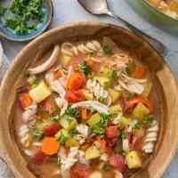 Sicilian Chicken Soup (gluten-free)