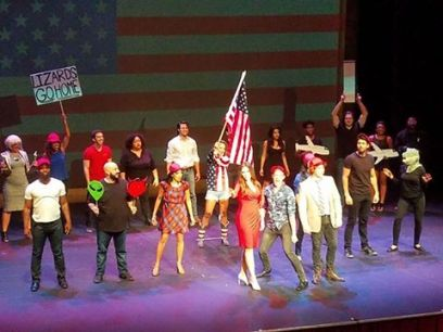 The whole Showcase cast from the cheap seats.