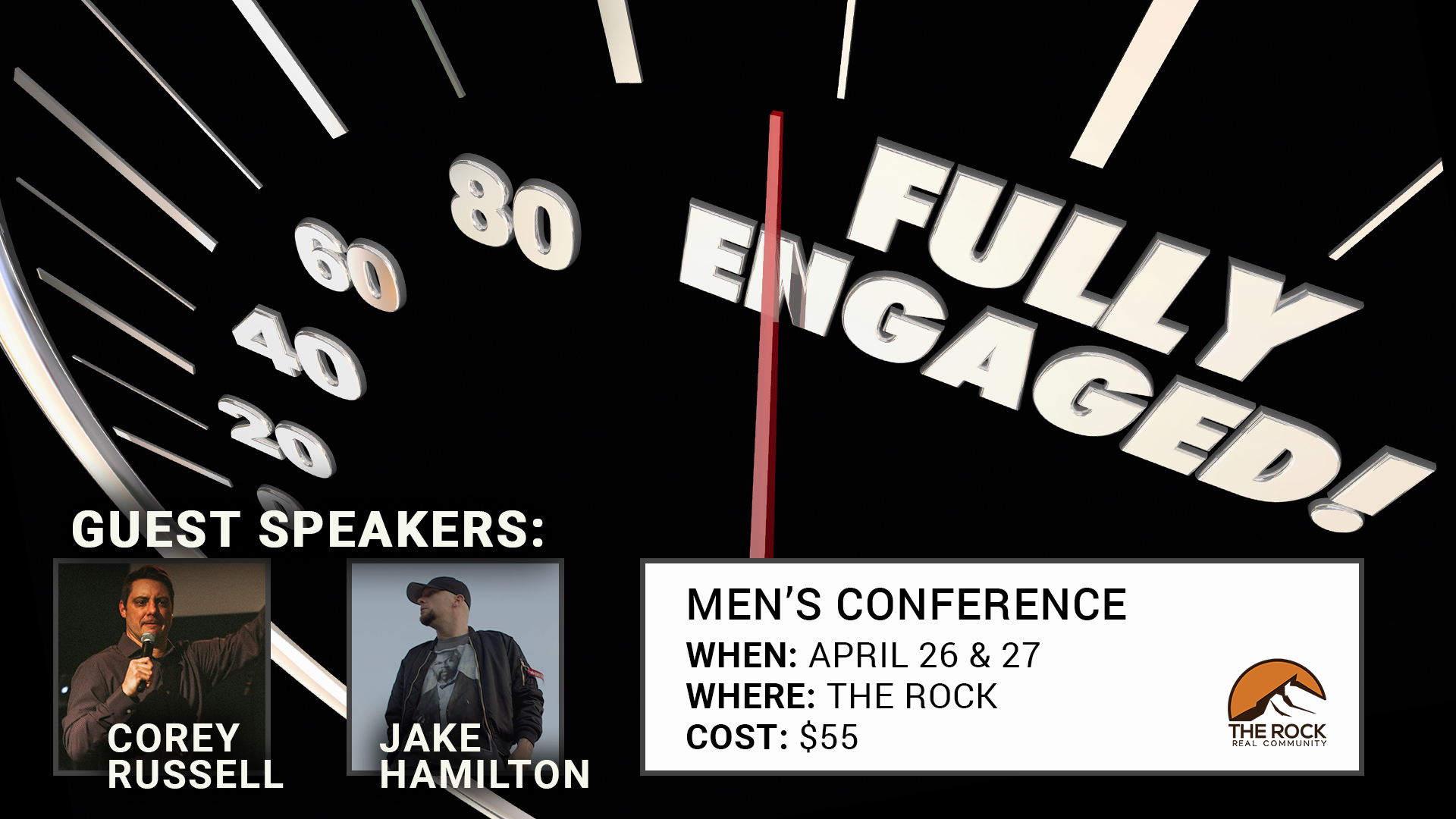 Men's Conference: Fully Engaged. With guests Corey Russell & Jake Hamilton
