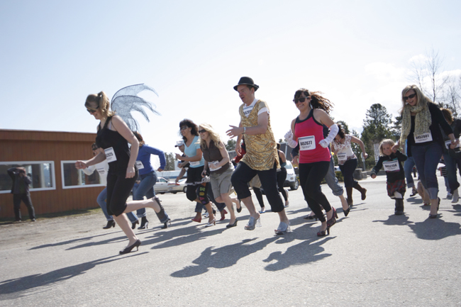 The Robson Valley's first High-Heel-a-thon races