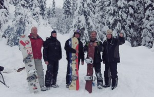 Valemount's Power Boarders Backcountry Association 2012 reunion. Craig Bennett, Trevor Pelletier, Matt Mcmillan, Collin Wied, Shawn Pelletier The power boarders lay the groundwork for the Crystal Ridge ski hill in a regional planning document, the Sustainable Resource Management Plan.