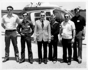 Garry Forman and Yellowhead Helicopters crew in the 1970s.