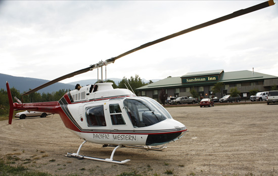 sandman helicopter salmon counting mcbride
