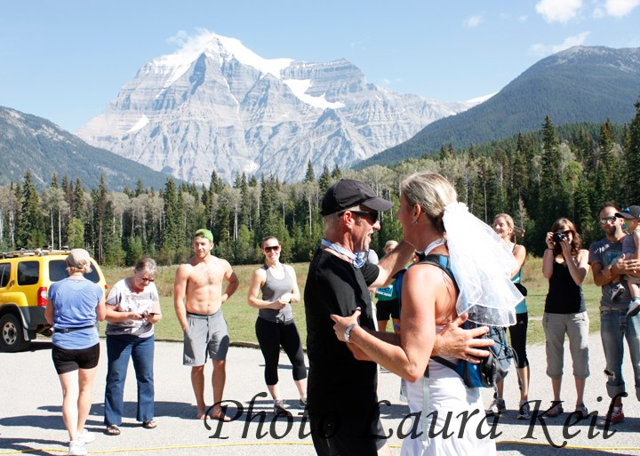 Runaway bride… and groom? Tying the knot at the Mt. Robson Marathon