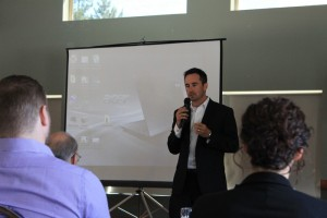 RMG file photo Craig Dunn, Borealis Geopower, speaking at a 2016 geothermal conference in Valemount.