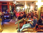 Crowd at the Gathering Tree Friday 25th July 2014
