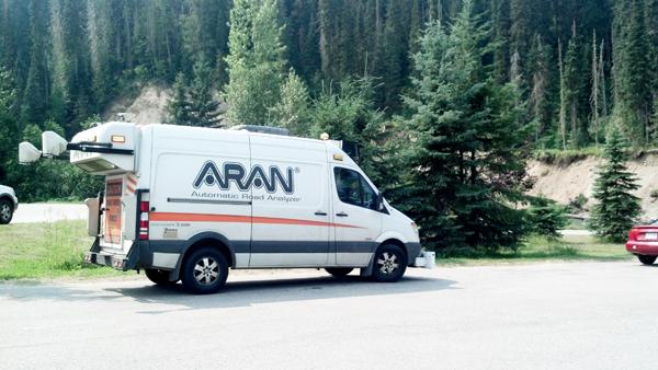 Fugro Roadware ARAN vehicle highway analyzer