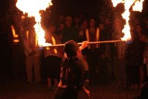 Robson Valley music festival 2014 (fire dancers)