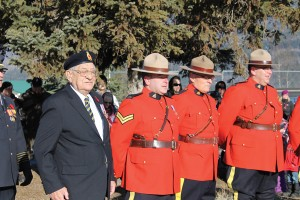 WW2 Veteran Ken Hooker seen at the 2013 Remembrance Day Ceremony.