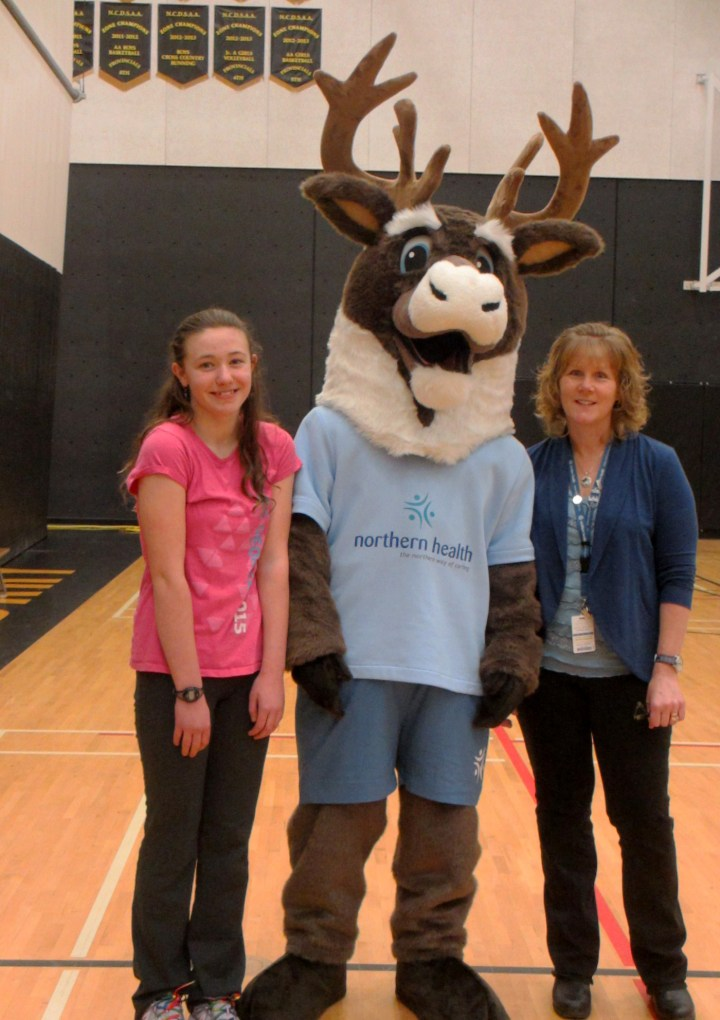 Northern Health unveils new Caribou mascot