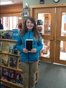 Literacy Day tablet winner Ellie Deuling