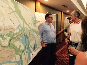 Tom Oberti of VGD answers questions from the public at an open house for VGD in 2015 / RMG FILE PHOTO