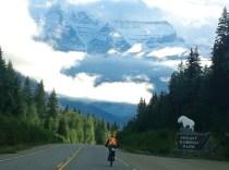 Vern Pawloske bike hike Leah Redmond - in front of Robson-EDoo