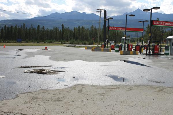 Fuel spill creates a stink