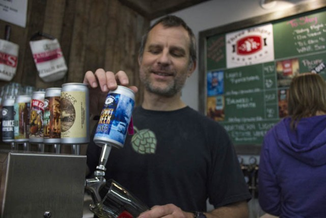 Michael Lewis says the expansion to Three Ranges Brewing Co. is just a part of his long-term plan. / EVAN MATTHEWS