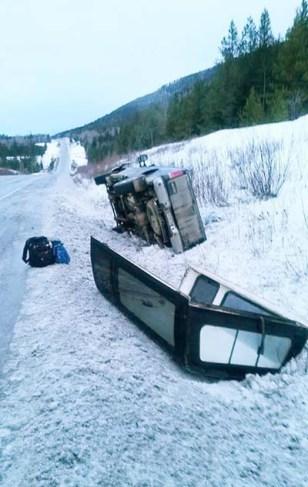 Kathy Blackman truck flipped