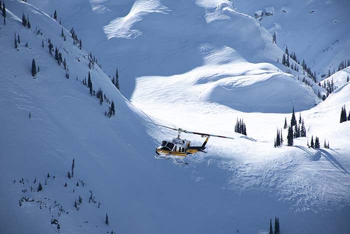 All safe in heli-skiing crash