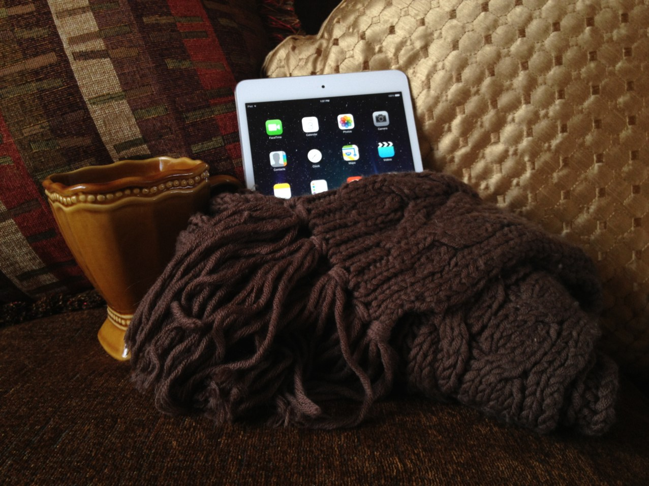 "My attempt to recreate how my dad kept our iPad ""warm"""