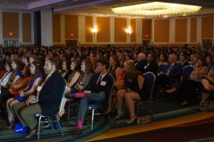 Shot of the convention attendees
