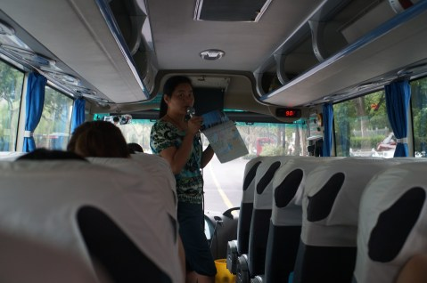 Susan talking about Hangzhou before she fell over