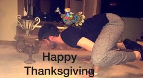 Spending this Thanksgiving in 'Turkey Pose'