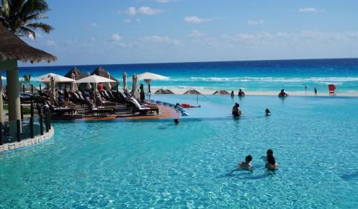 Enjoying This Resort's Ocean-Blue Infinity Pool