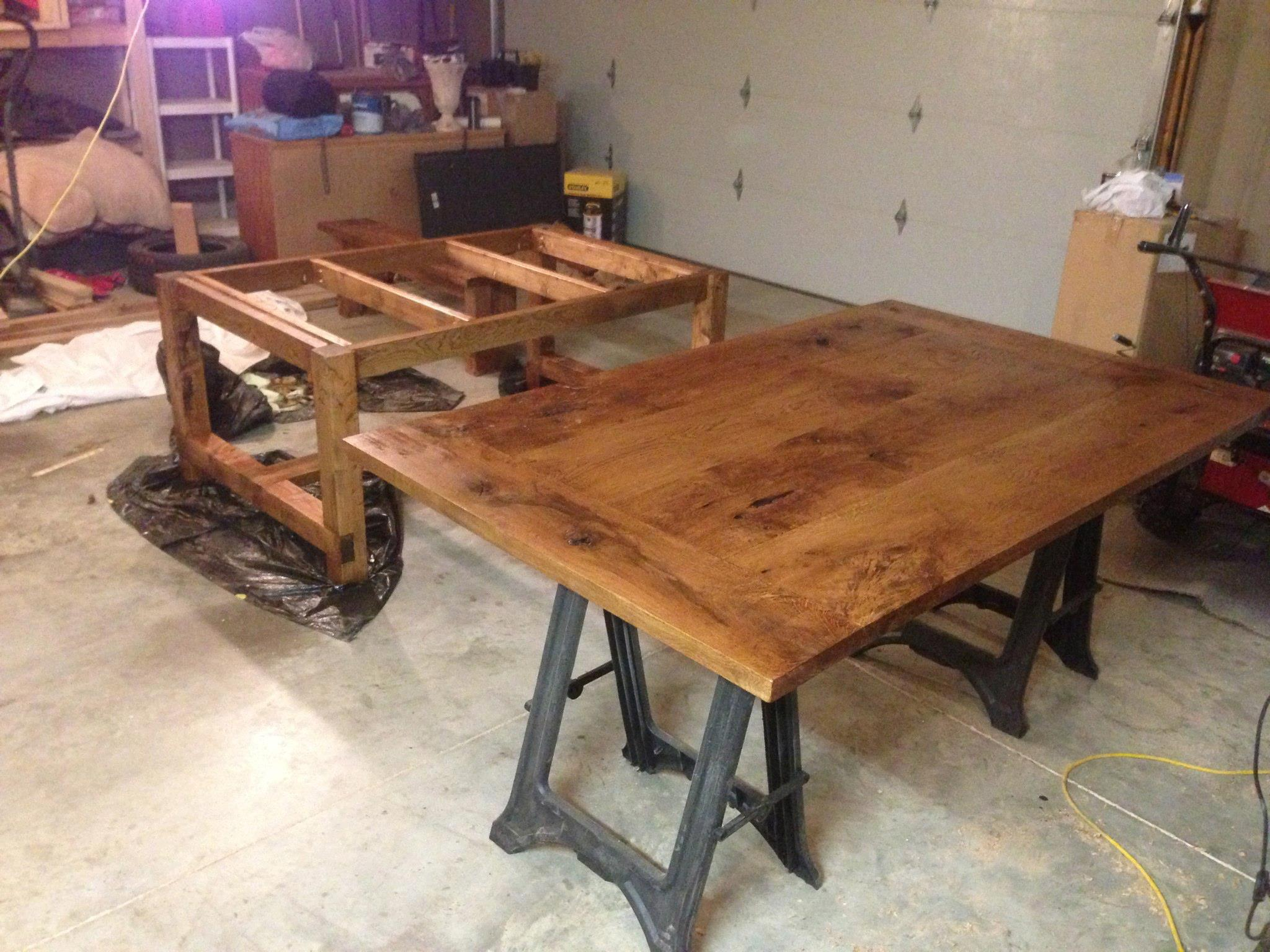 Simple DIY farmhouse style dining room table tutorial | The Rodimels ...