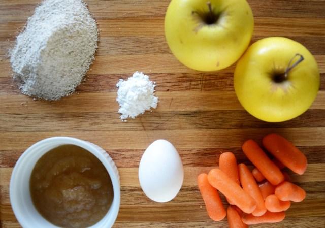 Homemade Apple Carrot Dog Treat Ingredients