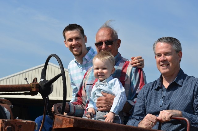 4 generations on tractor