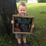 Everett's First Day of Preschool