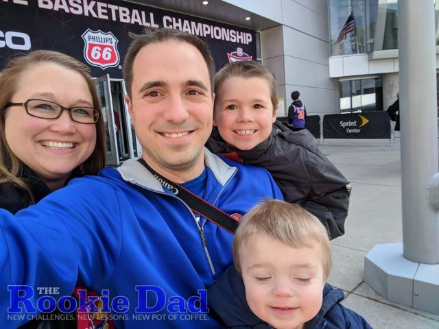 Family at the Big 12 Basketball Tournament