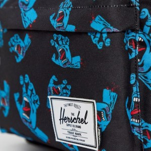 Mochila Herschel x Santa Cruz Classic XL Black Cyan Screaming Hand