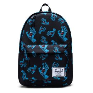 Mochila Herschel x Santa Cruz Classic XL Black Cyan Screaming Hand