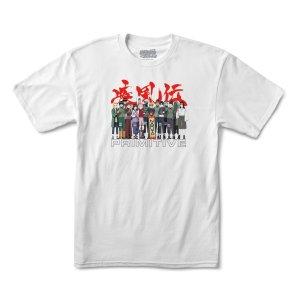 Camiseta Primitive x Naruto Leaf Village White
