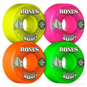 Ruedas Bones 52mm 100´S V1 Multi