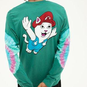 Camiseta Rip N Dip Nermio Aqua Elbow Wash L/S