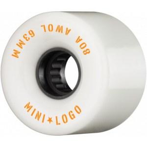 Ruedas Minilogo 63mm AWOL 80A White