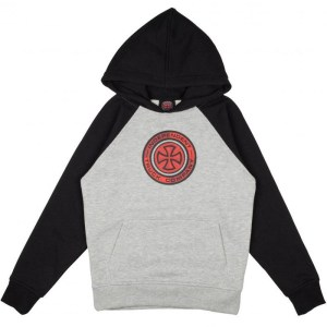 Sudadera Capucha Independent Target Raglan Black/Heather