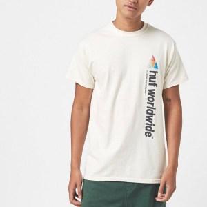 Camiseta Huf Peak Sportif Unbleached