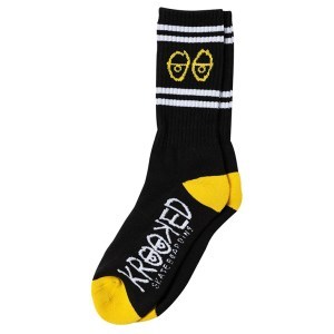 Calcetines Krooked Eyes Black/Yellow