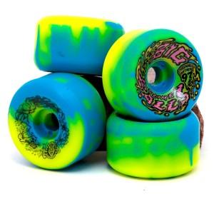 Ruedas Santa Cruz 65mm Big Balls B/Y Swirl 97A Slime Balls