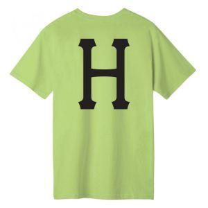 Camiseta Huf Essentials Classic H Lime