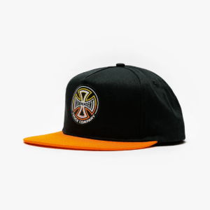 Gorra Independent Split Cross Black Orange