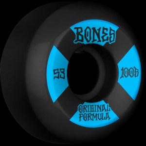 Ruedas Bones 53mm 100´S V5 100A Black
