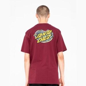 Camiseta Santa Cruz Pool Snakes Burdeos