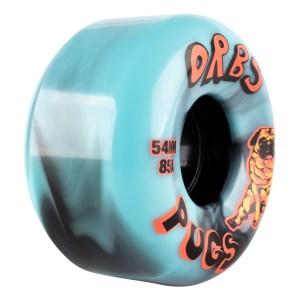 Ruedas Orbs 54mm Pugs Black/Blue 85A