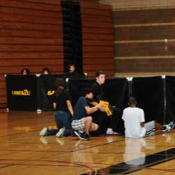 Laser tag in the large gym