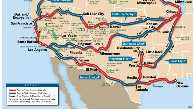 Amtrak Sunset Limited Route