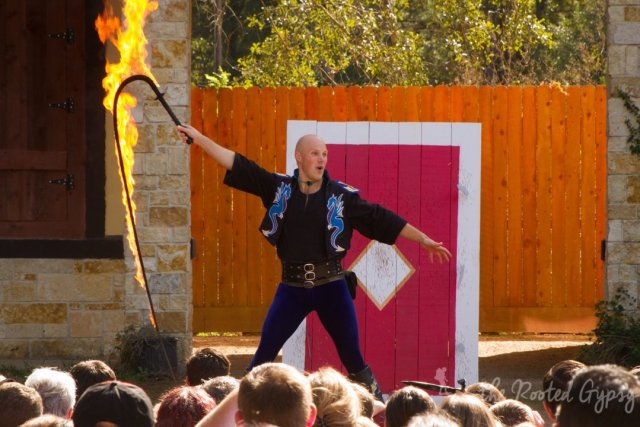 The Fire Whip Show at Texas Reniassance Festival