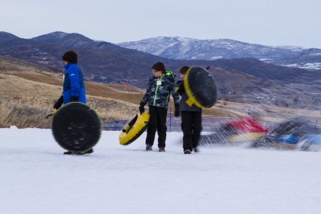 Snow Tubing at Soldier Hollow Utah